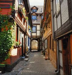 Quedlinburg, Germany Harz Mountains The city is a UNESCO World Heritage Site. It was behind the Iron Curtain which helped it retain so much Old World charm.