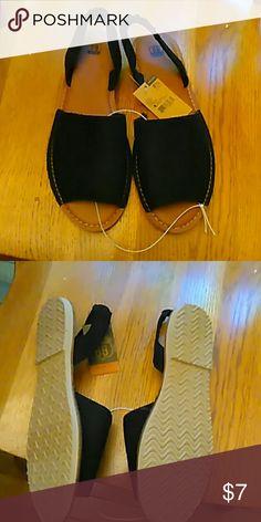 Black sling backs Black elastic band in back kmart Shoes Sandals