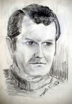 portrait drawing with pencil by Peter Pavluvcik - Father of the artist.