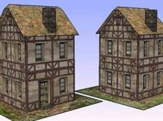 Simple Medieval House for Diorama Free Building Paper Model Download