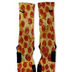 Pepperoni Pizza Customized Nike Elite Socks by FreshElites on Etsy