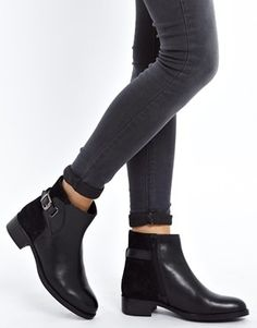 Faith | Faith Stockwell Black Leather Ankle Boots at ASOS