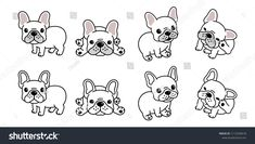 Find Dog Vector French Bulldog Logo Icon stock images in HD and millions of other royalty-free stock photos, illustrations and vectors in the Shutterstock collection. White Bulldog, White French Bulldogs, Dog Illustration, Character Illustration, French Bulldog Cartoon, Dog Quotes Love, French Dogs, Dog Icon, Dog Vector