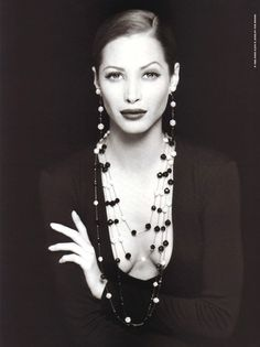 dreaminparis:    Christy Turlington; Harper's Bazaar, September 1992; Anne Klein ad