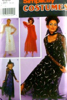 Simplicity Pattern 9309 Womens Costumes by VintageNeedleFinds,