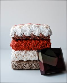 Washcloth Set in Earth Tones FREE U.S. Shipping by Design1052, $11.98
