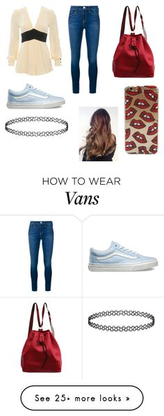 """""""Untitled #271"""" by juneisbest on Polyvore featuring Frame Denim, Vans, women's clothing, women, female, woman, misses and juniors"""
