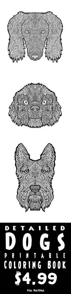 Dog Lover Coloring 25 Breeds Of Detailed Illustrations To Print Out And Color