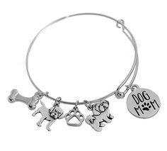 Customize your own dog mom bracelet by selecting dog breeds. Dog Paws, Dog Mom, Dog Breeds, Bangle Bracelets, Your Dog, Bones, Santa, Bangles, Bracelet