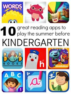 10 recommended reading apps for kids entering kindergarten.