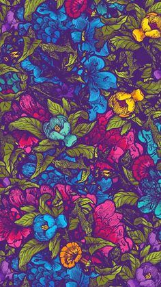 Flower Illustration iPhone 6 / 6 Plus wallpaper