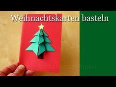 Weihnachtsbasteln: Tanne basteln als Weihnachtsdeko - Weihnachtsdekoration selber machen - YouTube