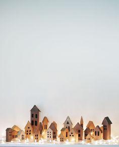 Advent Village DIY   A Beautiful Mess   Bloglovin'