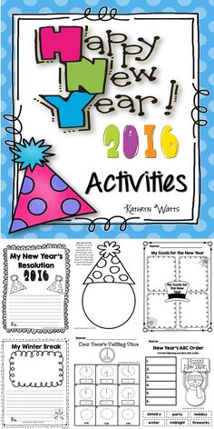 New Year's Activities and Printables!