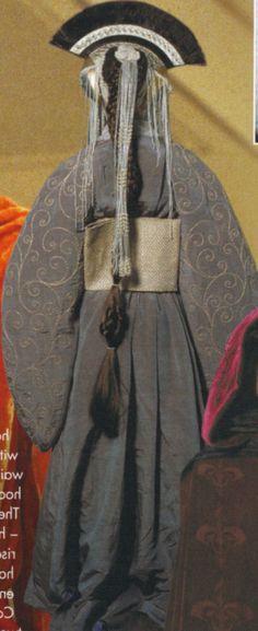 Padmé Amidala's dress - back view, designed by Trisha Biggar in Star Wars Episode I: The Phantom Menace