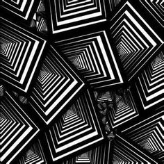 Could be a nice beginning of the year project Art Optical, Optical Illusions, Op Art, Bridget Riley Artwork, Alice Book, Black And White Quilts, Hippie Wallpaper, Or Noir, Kinetic Art