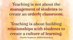 What teaching is all about! Sounds like Leader in Me!