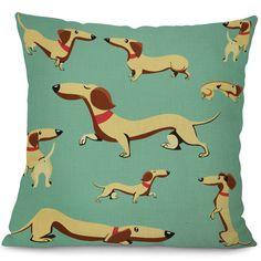 Dachshund Cushion Cover Dog Printing Linen Throw Pillows for Car Sofa Home Decorative Pillowcase Decoration Standard Dachshund, Funny Dachshund, Mini Dachshund, Dachshunds, Daschund, Dog Mom, Mom Cat, Presents For Girlfriend, Car Sofa
