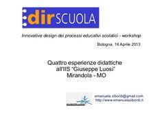http://www.emanuelazibordi.it/wp/innovative-design-dei-processi-educativi-scolastici-bologna-2013-04-16/  http://bricks.maieutiche.economia.unitn.it/?page_id=2454