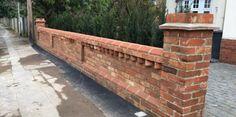 Brick Driveway, Driveway Design, Brick Fence, Brick Wall Gardens, Brick Garden, Garden Walls, Front Yard Patio, Front Courtyard, Porch