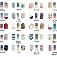 Love that Jamberry coordinates the wraps to go with their lacquer and gels! Here are some ideas for the lacquer combos! Check then all of at Aimeepostma.jamberry.com