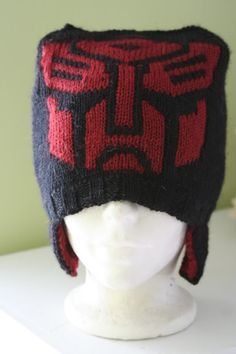 #crochet #hat #transformers  Seriously if someone could make this for my kid he'd go nuts