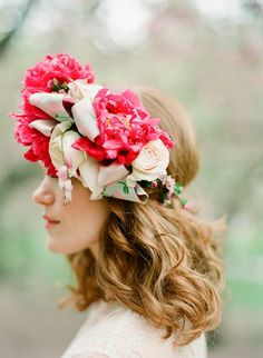 Cherry Blossom shoot from Brklyn View Photography Boho Wedding Hair, Wedding Hair And Makeup, Wedding Flowers, Vintage Beauty, Vintage Fashion, Vintage Style, Down Hairstyles, Wedding Hairstyles, Wedding Makeup Artist