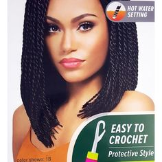 Outre X-Pression Braid - Senegalese Twist Small 10 More Click the image for more info Bob Box Braids Styles, Blonde Box Braids, Short Box Braids, Box Braids Styling, Braid Styles, Bob Braids, Small Braids, Tree Braids, Hot Hair Styles