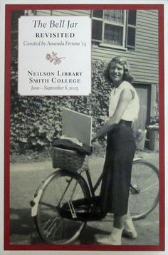 Sylvia Plath and her bike.