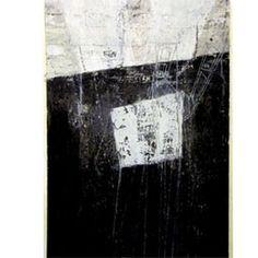 """Grafik Scheffmann Monotypi, bemalet, farvet tryk """"Arkitekturbillede"""""""
