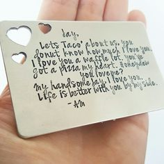 Love! Personalized wallet insert by DreamWillowStudio on Etsy