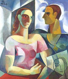 Adalgisa e o Artista, por Ismael Nery, 1930.  [Coleção Nemirowsky ]