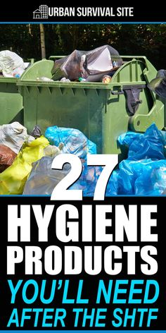 After a disaster, the level of hygiene will plunge due to a lack water, no sewage treatment plants, and no garbage collection. Get these hygiene items. products list 27 Hygiene Products You'll Need After The SHTF Survival Items, Survival Supplies, Urban Survival, Survival Life, Survival Food, Wilderness Survival, Outdoor Survival, Survival Prepping, Survival Skills
