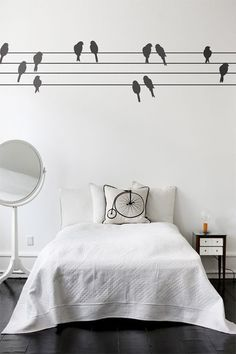 Plans for my room - birds on a wire...