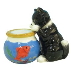 Westland Giftware Magnetic Cat and fish bowl salt and pepper  Shaker Set  http://www.amazon.com/gp/product/B001HXSTUW/ref=as_li_ss_tl?ie=UTF8=1789=390957=B001HXSTUW=as2=authenticdown-20