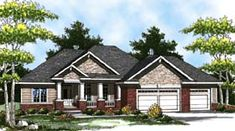 1694 sf Elevation of Colonial   Craftsman   Ranch   House Plan 73321