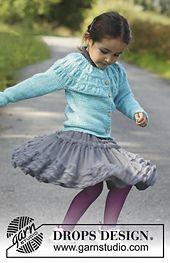 """Tempest - Knitted DROPS jacket with shirred pattern on yoke in 2 threads """"Alpaca"""". Size 3 - 12 years - Free pattern by DROPS Design Knitting Designs, Knitting Patterns Free, Free Knitting, Baby Knitting, Free Pattern, Drops Design, Knitting For Kids, Crochet For Kids, Knit Crochet"""