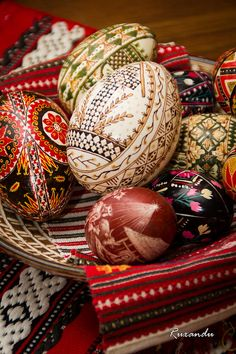 painted eggs   Romanian Painted Eggs Photograph