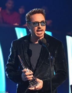 He's an Iron Man! Robert Downey Jr. conquered the category of Favourite Action Hero at the People's Choice Awards, on Wednesday night, in Los Angeles