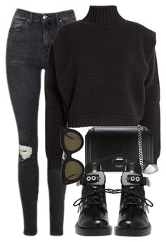 A fashion look from July 2017 featuring turtle neck crop top, distressed skinny jeans and lace-up ankle boots. Browse and shop related looks. Semi Formal Outfits, Edgy Outfits, Retro Outfits, Classy Outfits, Beautiful Outfits, Fashion Outfits, Bff, College Outfits, Looks Style