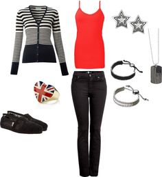 """casual day in Doncatser"" by amrice ❤ liked on Polyvore"