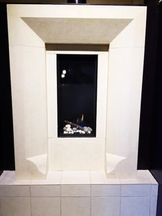 Stunning surround from Cast Limestone Creations to enhance this fireplace. Home and Hearth Outfitters is the Ortal dealer from to Fireplaces, Fireplace Showroom, Hearth, Denver, Home Decor, Fireplace Set, Log Burner, Fire Places