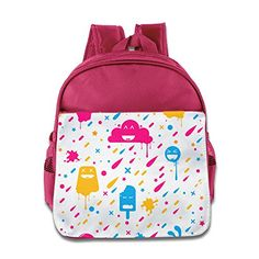 MYKKI Cute Color Stuff Children Cool Backpack Pink *** You can get additional details at the image link.