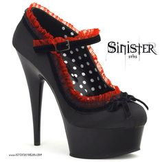 goth gothic shoes fashion lace bow polka dot