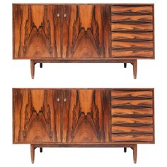 Pair of Arne Vodder Sideboards | From a unique collection of antique and modern credenzas at https://www.1stdibs.com/furniture/storage-case-pieces/credenzas/