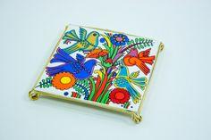 Villeroy & Boch Acapulco design tile coaster trivet hot plate, vintage seventies ceramics