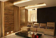 Home Theater, projetado pela designer de interiores Andréa Spelzon, pela arq...