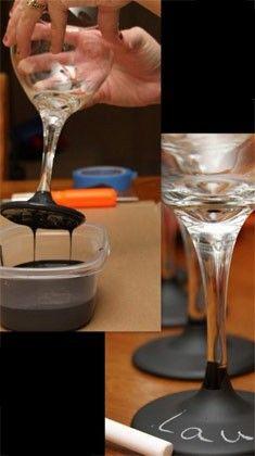 15 ideias criativas para usar taças e garrafas de vinho