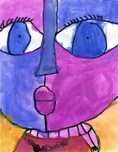 Picasso artist study: Art Projects for Kids: Big Face Painting Tutorial My five year old loved this! Face Painting Tutorials, Face Painting Designs, Painting Patterns, Art Tutorials, Kindergarten Art, Preschool Art, Projects For Kids, Art Projects, Simple Face Drawing