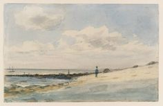 John Constable (English, 1776-1837), Between Folkestone and Sandgate, 1833. Graphite and watercolor on paper, 11.6 x 18.2 cm.